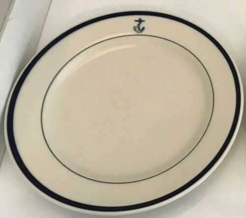 "Homer Laughlin U.S Navy Fouled Anchor 10"" Dinner Plate(s) Excellent!!!"