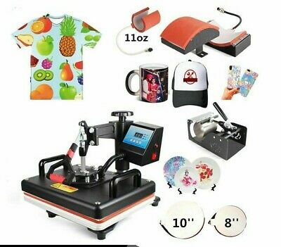 Heat Press Printer Sublimation Machines For Business 5 In 1 Combo Printing Tools