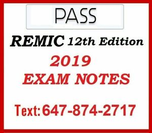 Study Guide for REMIC Mortgage Agent Exam