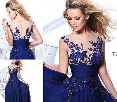 - Blau Party Kleid
