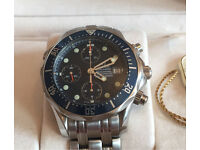 Omega Seamaster Chronograph Diver 2004 2599.80.00 serviced December 2016 warranty, box / papers+