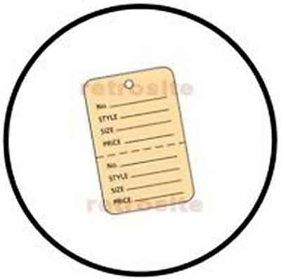 200 Small Price Hang Tags Without Strings Buff 2-part Perforated