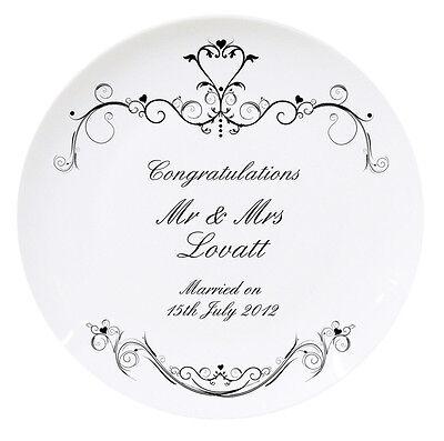 Silver Wedding Anniversary Ideas (WEDDING or SILVER RUBY ANNIVERSARY PERSONALISED PLATE Unique Unusual Gift Idea)