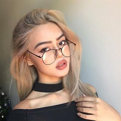 Klare NERDBRILLE  Vintage Rund Brille Klarglas Oversize Unisex Modern Brille NEU