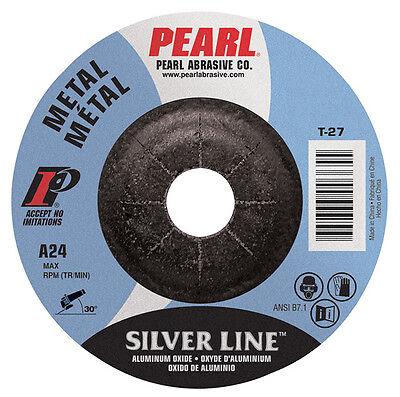 Pearl Silverline 4-12 X 14 X 78 Depressed Ctr Grinding Wheel Pack Of 25