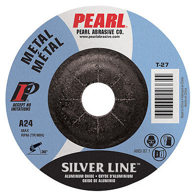 Pearl Silverline 6 X 14 X 78 Depressed Center Grinding Wheel Pack Of 10