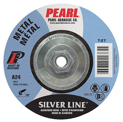 Pearl Silverline 7 X 14 X 58-11 Depressed Center Grinding Wheel Pack Of 10