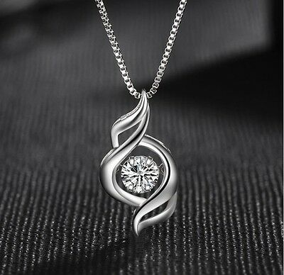 Dancing Love Diamond Accent Sterling Silver Halo Pendant Necklace 18