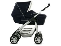Silvercross sleepover pram / pushchair / buggy with rocking stand crib