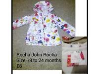 Rocha John Rocha girls 18 to 24 month winter coat