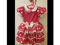 Disney Store Minnie Mouse Play Dress/ costume/outfit