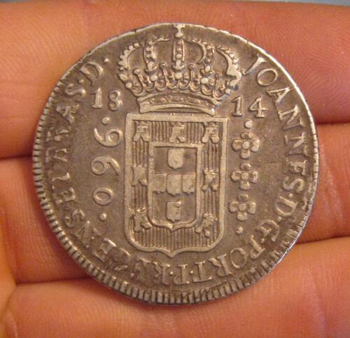Brazil - 1814 Large Silver 960 Reis - Nice!