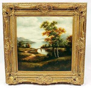 Oil Painting in Plaster Frame