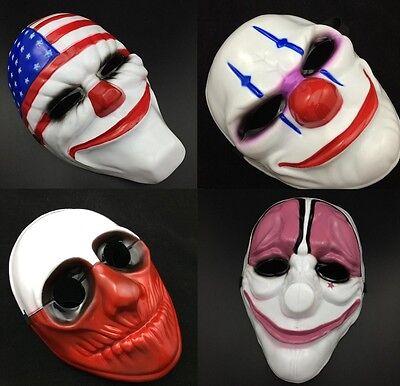 Neu Halloween Maske Fasching Karneval Kostüm PAYDAY Horror Clown Gruselige - Clown Maske Kostüm