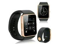 Bluetooth smart watch with sim card and memory card slots