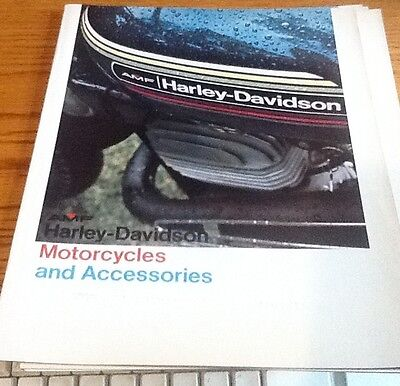 1970s HARLEY DAVIDSON CYCLES AND ACCESSORIES BROCHURE