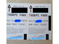 4x tickets to THORPE PARK for Thursday 19th July (last few days before Holidays)