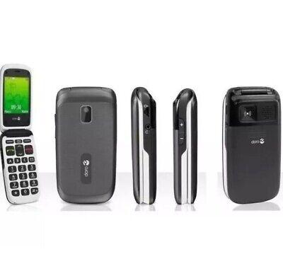 New Condition Doro PhoneEasy 612 Black Unlocked Flip Mobile Phone - 12M Warranty