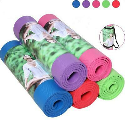 "Thick Yoga Mat Exercise Fitness Pilates 72"" x 24""  Meditatio"