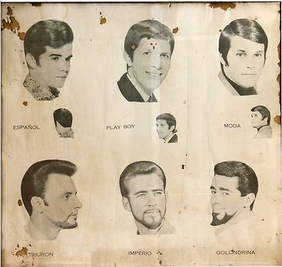 Hairstyling of the 1920-50s BARBER SHOP  VINTAGE STYLE METAL TIN SIGN POSTER](Hairstyle Of The 50s)