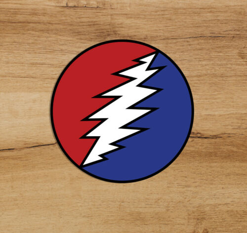 Grateful Dead Steal Your Face Bolt Premium Deadhead Sticker 2 in Jerry Garcia
