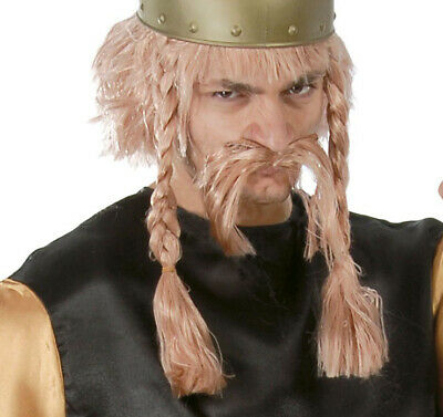 �cke zum Gallier Kostüm für Herren Karneval Fasching Party (Blonde Perücke Für Herren)