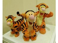 Collection of Tigger toys (sold as bundle)