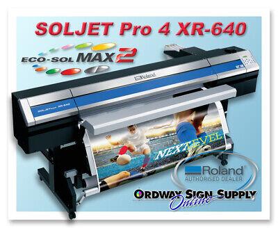 Demo Roland Soljet Pro 4 Xr-640 Printercutter Plus 3 Year Warranty