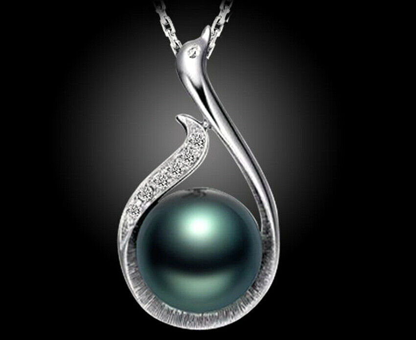 Jewellery - Colourful Pearl Pendant 925 Sterling Silver Chain Necklace Womens Jewellery Gift