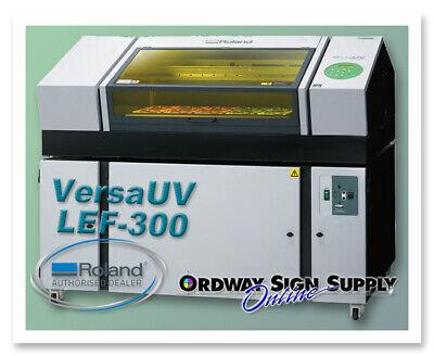 Repossessed Roland Versauv Lef-300 Uv Flatbed Printer Plus Bofa Unit