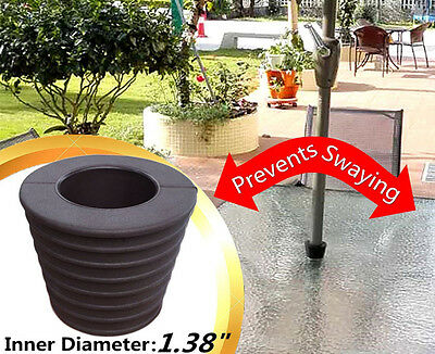 Patio Umbrella Stand Wedge Outdoor Home Umbrella Base Weather Resistant Cone New