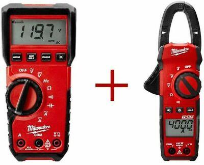 Milwaukee Multimeter Digital W Clamp Meter 400 Amp Bundle Backlight Display