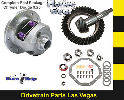 """Yukon Duragrip Dodge  9.25"""" Posi Package Ring Pinion Master Kit 4.10 Motive Gear"""