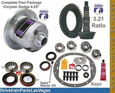 Dodge Chrysler 9.25 Posi Package Yukon Duragrip Ring and Pinion Ultra Kit All Yr