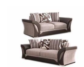 🌈 Best Furniture🌈-SHANNON SOFA FABRIC & FAUX LEATHER LEFT / RIGHT CORNER/3+2 SEATER-CALL NOW