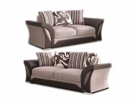 🛑⭕SAME DAY IN LONDON🛑⭕Brand New Shannon corner or 3 and 2 seater sofa in black and brown