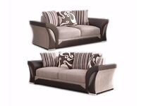 **WOW NOW IN BROWN/BEIGE** New SHANNON Corner Or 3 + 2 Sofa, SWIVEL CHAIRS, Universal corner Sofa