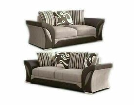 LOWEST PRICE OFFER 🔴SHANNON SOFA- NEW FABRIC & FAUX LEATHER SHANNON CORNER/3 2 SEATER
