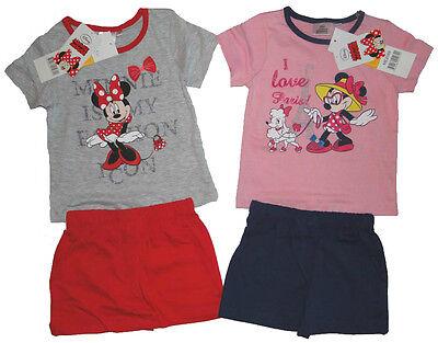 NEU Disney Minnie Maus Pyjama Schlafanzug für Mädchen Set Mouse kurz Sommer