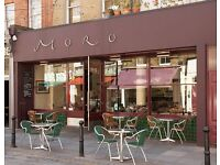Experienced bar staff wanted, award-winning restaurant, Islington