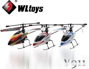 V911 4CH GYRO 2.4GHz Remote Control Single Blade Helicopter Outdoor **UK SELLER*