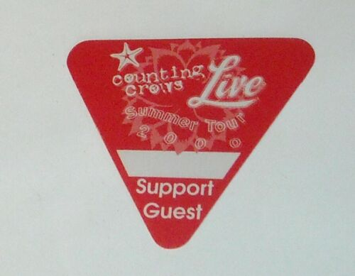 UNUSED OTTO SATIN CONCERT SUPPORT GUEST BACKSTAGE PASS COUNTING CROWS 2000 TOUR