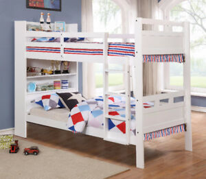 BOOKCASE BUNKBED WITH DRAWERS SINGLE-SINGLE
