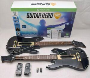 Jeu Guitar Hero Live Xbox one et deux guitares, dans la boîte