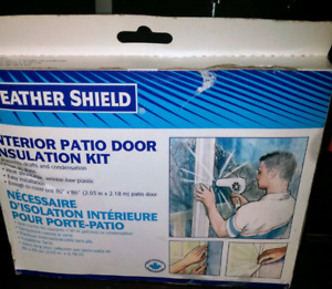 NEW Weathershield Patio Door Insulation Kit