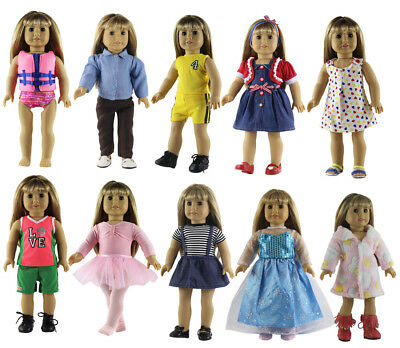 New Style Clothes For Girls (5 * New Style Doll Clothes FOR 18'' inch American Girl Princess Dress)