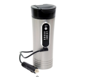 NEW IN BOX!! ROADPRO 12V 15 oz Heated Stainless Steel Travel Mug