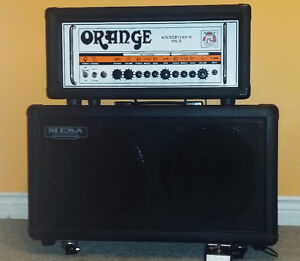 Orange Rockerverb 50 Watt MKII + Mesa Boogie 2x12 V30s Cab-10/10