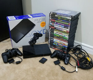 PLAYSTATION 2 , 22 GAMES AND 2 CONTROLLERS ETC