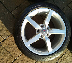 "Corvette staggered set - 19''/18"" rims/tires - $1800.00 Kitchener / Waterloo Kitchener Area image 6"